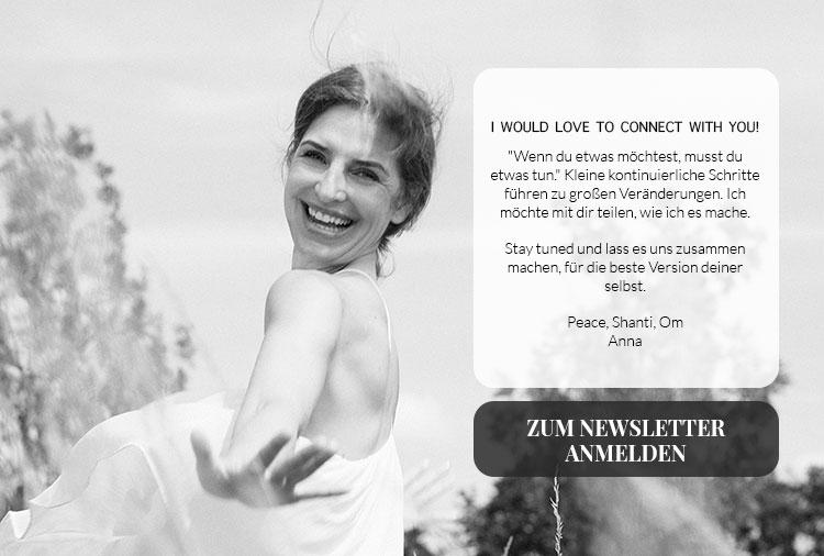Newsletteranmeldung Anna Winter Yoga